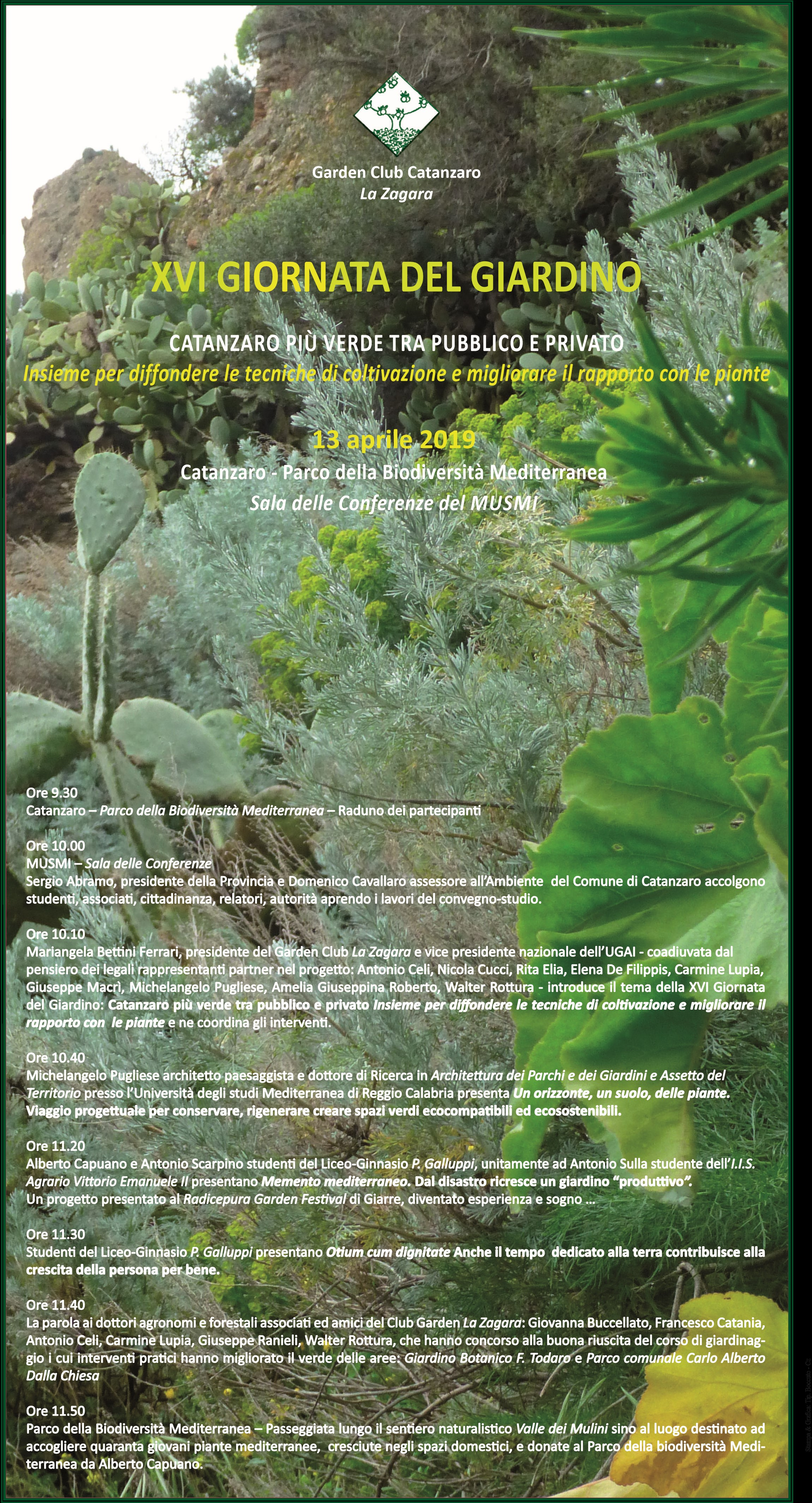 Terra Buona Per Giardino al musmi la xvi giornata del giardino – csv catanzaro